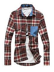kontrola pánské košile s kontrastním kapsy