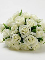 Redondo elegante de la boda de Marfil Forma ramo de novia