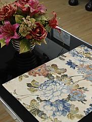 4国のセットマルチカラーの花のポリエステル綿混紡プリントランチョン
