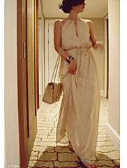dámské šifon ohlávka maxi šaty