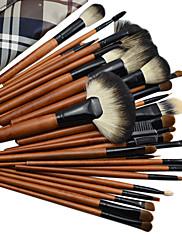 36PCS高品質なプロのウール化粧ブラシセット
