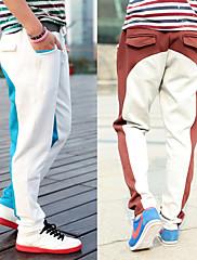 kauzální pánské rovné dlouhé kalhoty