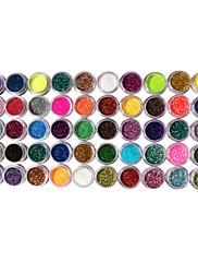 50 Barvy Glitter Dekorace Nail Art