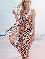 Orange Zebra Leopard Sarong (Délka: 150cm Šířka: 105CM)