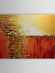 Ručně malované Abstraktní Horizontálně,Klasický Jeden panel Hang-malované olejomalba For Home dekorace