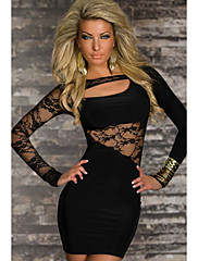 Black Body-lichotivé šaty (Bust :86-102cm Pas :58-79cm Hip :90-104 cm Délka: 78 cm)