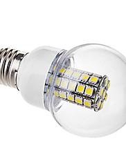 6W E26/E27 LEDボール型電球 G60 47 SMD 5050 530 lm ナチュラルホワイト 交流220から240 V