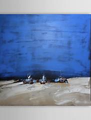Ručně malované Abstraktní / Abstraktní krajinka Jeden panel Plátno Hang-malované olejomalba For Home dekorace