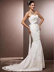 Lanting Bride® Mořská panna Drobná / Nadměrné velikosti Svatební šaty - Elegantní & moderní / Okouzlující & dramatické / Šaty na hostinu