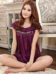 Dámská Purple Fashion Princess Sexy Lace Bow Big-size Thin Lounge Pas 100cm