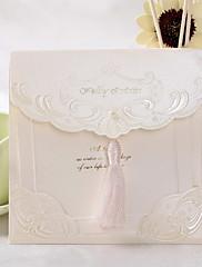 タッセル付きヴィンテージ結婚式の招待状(50セット)