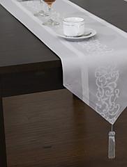 クラシックジャガード花ポリエステル綿混紡のテーブルランナー