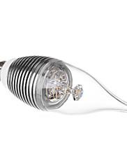 E14 3ワット240LM 3500K暖かい白色LEDキャンドル電球(110-220V)を飛ぶ