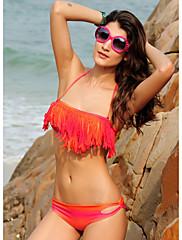 Růžové a oranžové Tassel Bikini