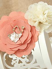 Dámská móda Sladký dvoubarevný květ vlasy klip