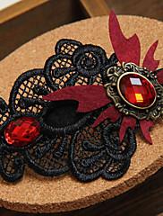 Gotický upír Crystal Butterfly krajka Sponka do vlasů