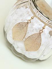 Módní dámské náušnice Gold Leaf