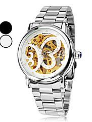 女子バタフライスタイルシルバーダイヤルスチールアナログ自動機械腕時計(アソートカラー)