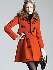 CHAOLIU女子韓国のスリムカシミヤカラーコート