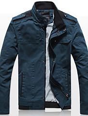 Xingke Pánská Casual límec Jacket (modrá)