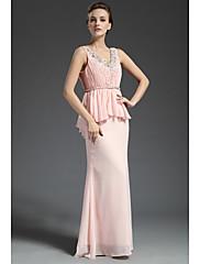 Lady Antebellum V Neck Palace styl prohrábnout dlouhé šaty