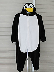 着ぐるみ パジャマ ペンギン レオタード/着ぐるみ イベント/ホリデー 動物パジャマ Halloween イエロー / ブラック/ホワイト パッチワーク フランネル きぐるみ のために 子供用 ハロウィーン