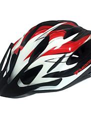 MOONサイクリングPC +赤+白一つは、自転車/バイクヘルメットフォーミング21通気口をEPS