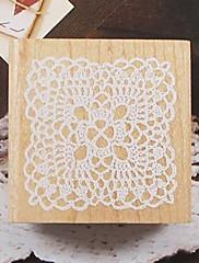 2 Piezas de bricolaje de madera Sellos Arreglos florales de encaje clásico de la vendimia