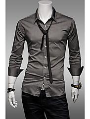 メンズプレッピースタイルシルケット綿シャツ