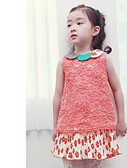 Dívčí Flower Hollow Lace vráskám šaty