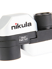 Nikula® 10X 21 mm 単眼鏡 BAK7 小型 98m/1000m 全面コーティング 一般用途向け 標準 シルバー