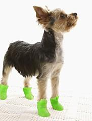 Gatos / Perros Zapatos y Botas A Prueba de Agua Invierno / Primavera/Otoño Un Color Amarillo / Azul / Morado / Negro / Rosado Silicona