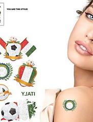 2ks Fotbal vzor Itálie Světový pohár Vodotěsné tetování těla Dočasné Glitter Samolepky
