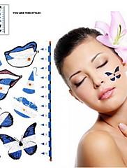 2ks Butterfly vzor Argentina Světový pohár Vodotěsné tetování těla Dočasné Glitter Samolepky