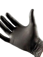 メディアdragonhawk®パウダーフリー黒ニトリル試験のラテックスフリーのタトゥー手袋