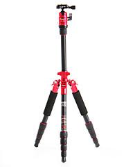 デジタル一眼レフカメラ用のFotopro X4i-E屋外トラベルアルミニウム - マグネシウム合金の伸縮三脚(レッド)