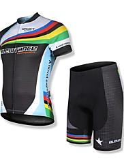 Spakct Pánské 100% polyester krátký rukáv Prodyšnost MTB Cyklistika Obleky