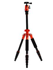 デジタル一眼レフカメラ用のFotopro X4i-E屋外トラベルアルミニウム - マグネシウム合金の伸縮三脚(オレンジ)