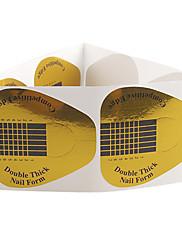 10ks Zlaté Podkovy vzor Nail Art Forms akrylátových a UV Gel Tipy
