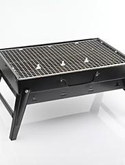 Ocelové domácností pole Přenosný skládací Charcoal Grill, 43.5x29x23cm