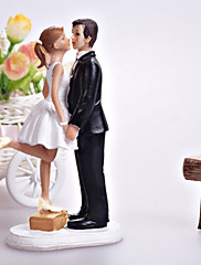 Figurky na svatební dort Klasický pár Pryskyřice Párty pro nevěstu / Svatba Bílá / Černá Klasický motiv Dárková krabička