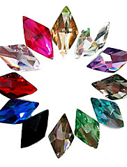 24PCS Mixs Color Glitter romb Rhinestone Nail Art Dekoracije