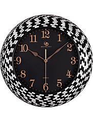 """18.4 """"H Moderní Simple Style Black Polyresin Nástěnné hodiny"""
