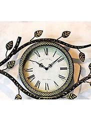レトロなオリーブの枝ローマンナンバー金属壁時計
