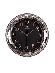 """18.4 """"H Rerto styl Brick Pattern Silver Polyrein Nástěnné hodiny"""