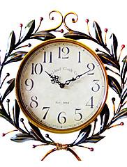 17「Hヴィンテージオリーブブランチデザインメタルウォールクロック