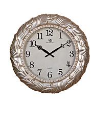 """19.2 """"H Styl moderní květinové Reliéfní bílé a stříbrné Polyresin Nástěnné hodiny"""