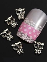 10ks 3d drahokamu slitiny roztomilá malá zvířata nail art dekorace