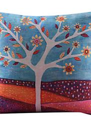 カントリースタイルのコットン/リネン装飾枕カバー