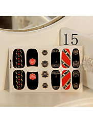 akryl černá červená sebe adhensive plechove nehtu stickes dekorace pro dlouhé nehty